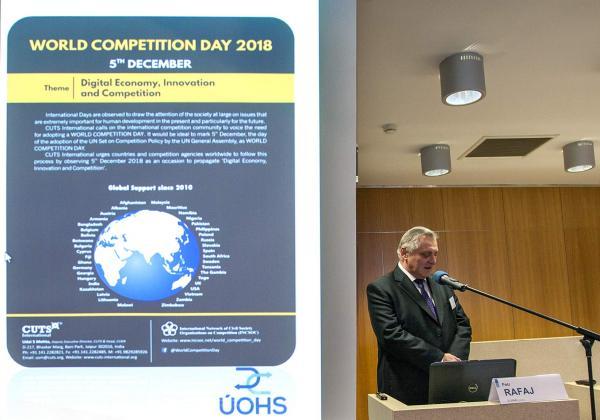 Předseda ÚOHS u upoutávky na Světový soutěžní den