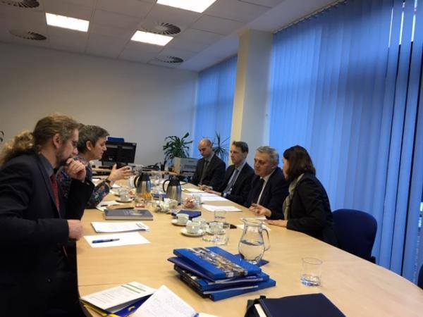 Jednání delegace komisařky pro hospodářskou soutěž se zástupci ÚOHS.