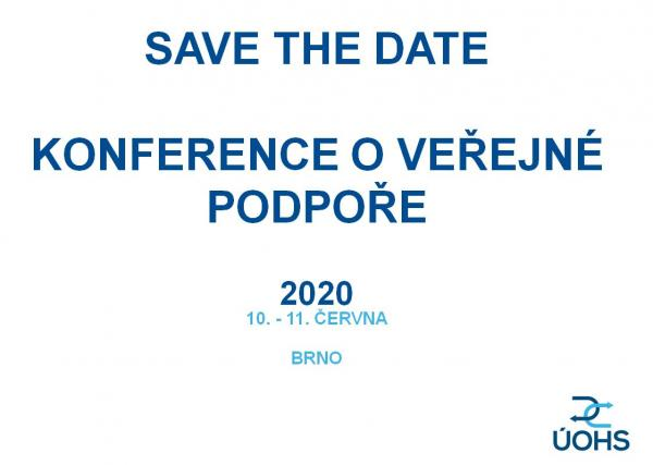 Save the Date - konference o VP 2020